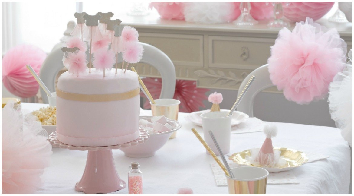 Sweet Table, Dekoration in Rosa kindergeburtstag